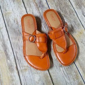 Born Orange Leather Sandals